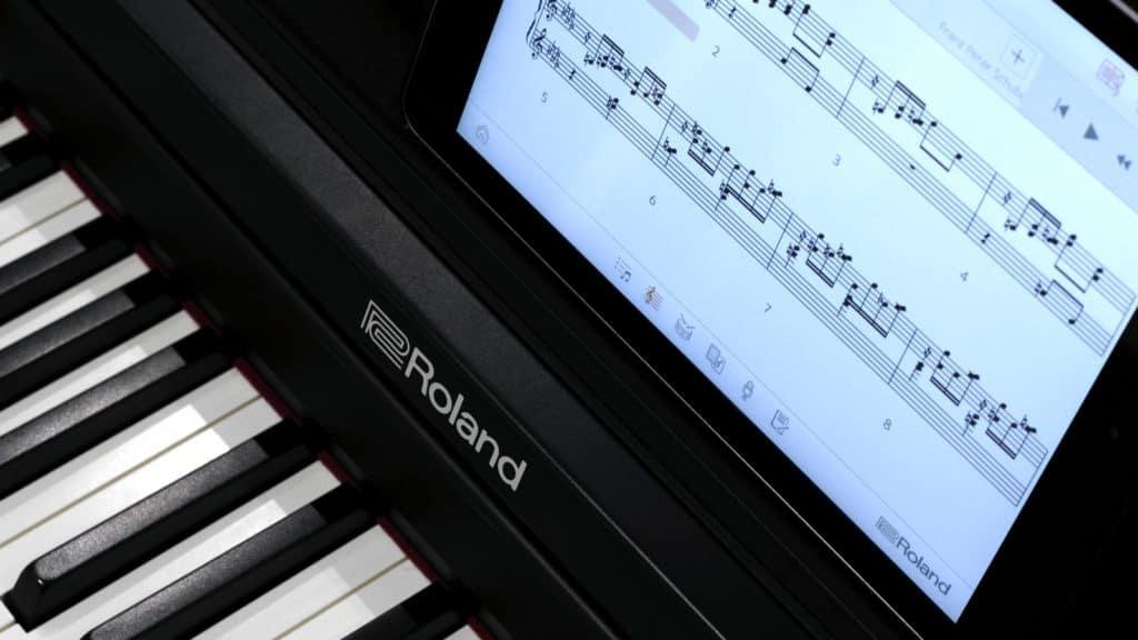 Klavier lernen mit Roland Piano Partner - Piano App für iOS- und Android-Geräte