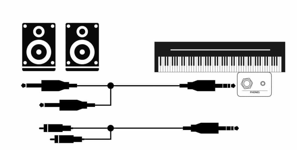Stereo-Adapter für die Kopfhörer-Buchse