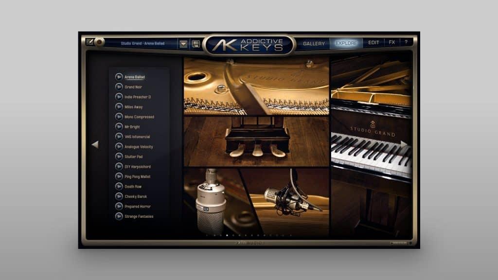 XLN Audio Addictive Keys in der Explore-Ansicht