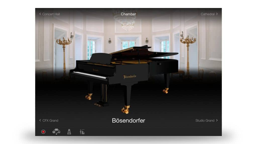 Smart Pianist: Reverb und Lid-Parameter einstellen