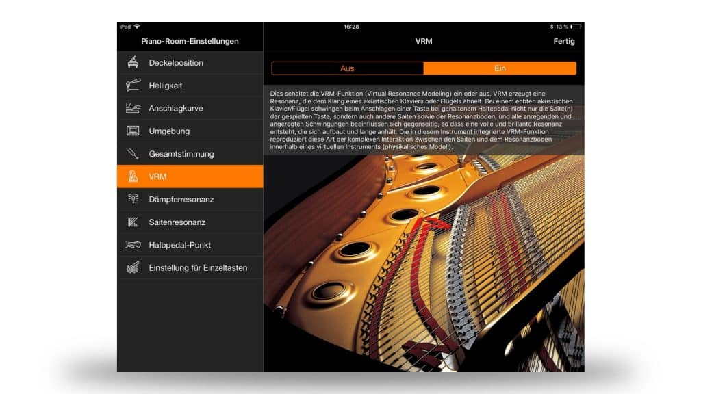 Smart Pianist: Piano Room und VRM