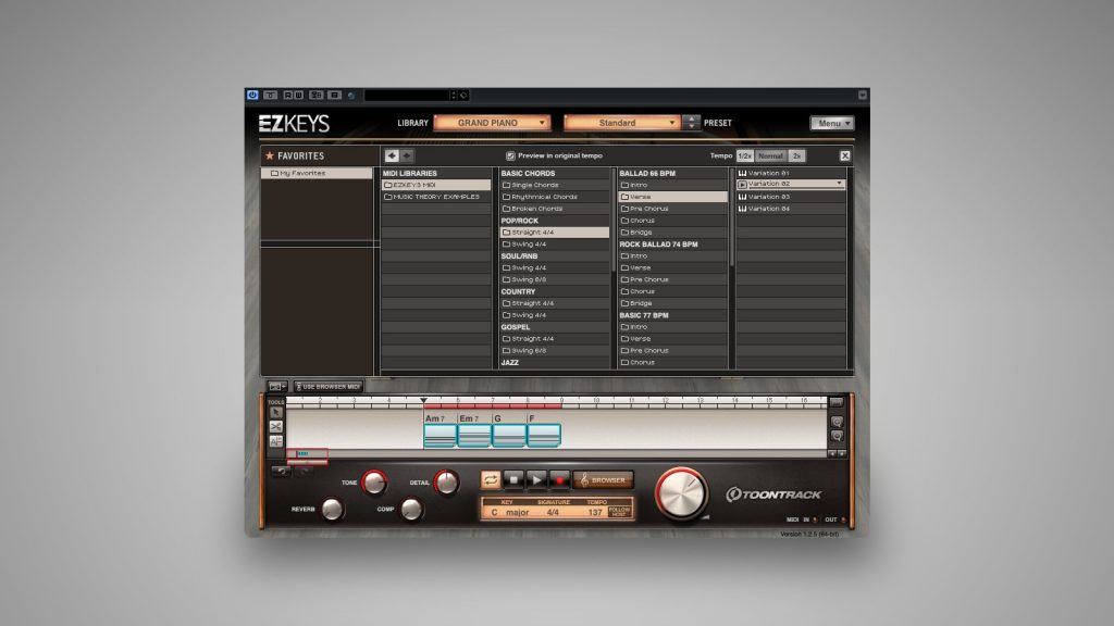 Toontrack EZkeys Song Arranger