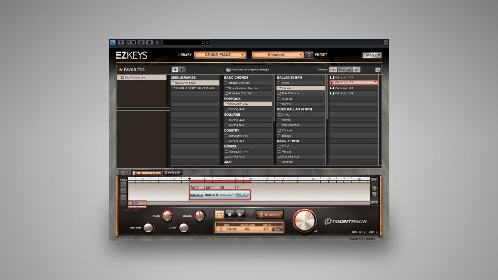 EZkeys Use Browser MIDI