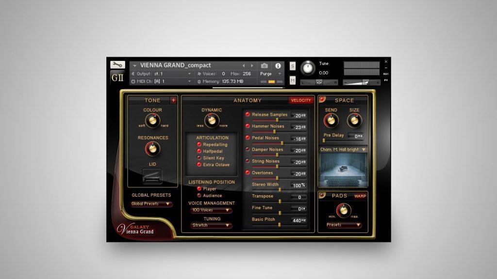 Galaxy Vienna Grand User Interface
