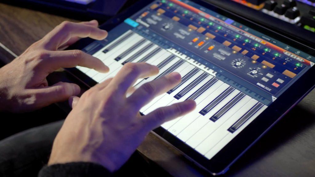 Virtuelle Tastatur Steinberg Cubasis (Bildquelle: Steinberg)