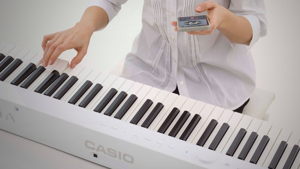 Casio PX-S1000 with Bluetooth audio enables wireless music playback
