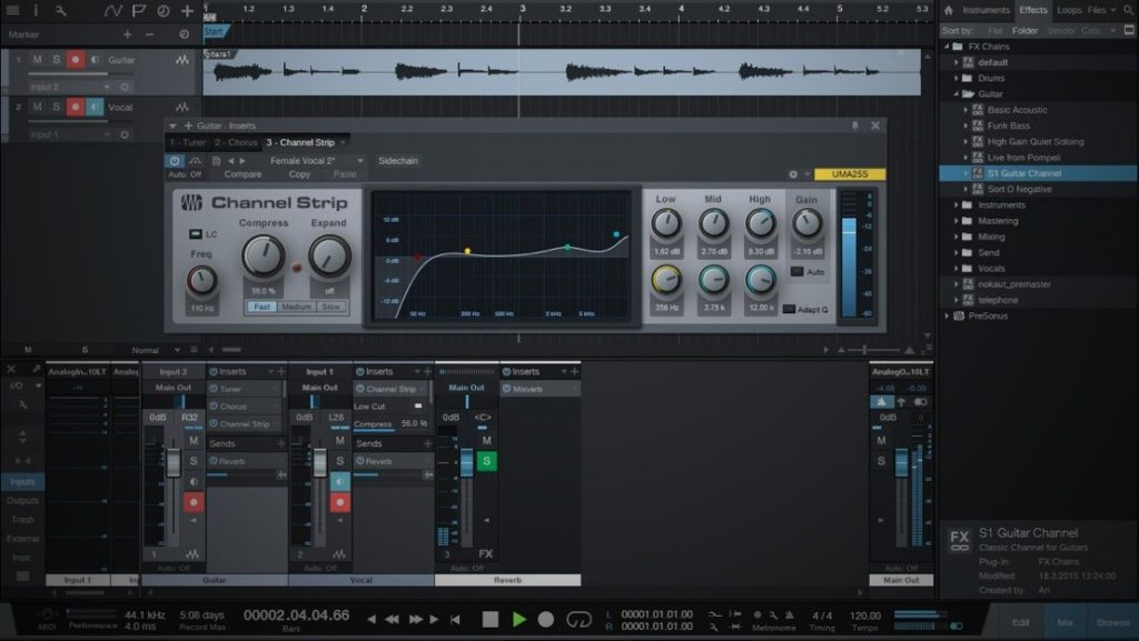 Free DAW-Software Studio One Prime