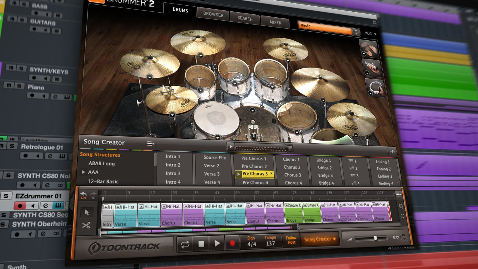 Toonrack EZdrummer 2 - Drum-VST für Songwriting