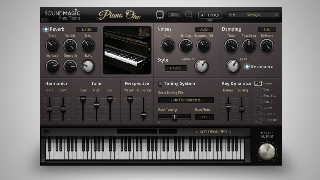 Sound Magic Piano One User Interface