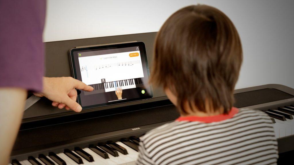 Für Online-Lessons verbindet man das Korg B2 über USB und Audio-In. (Bildquelle: Korg)
