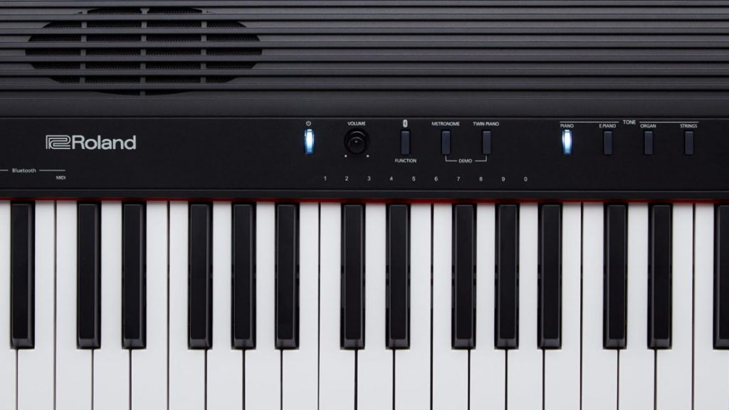 The Roland GO: PIANO 88 offers four sounds: Piano, E-Piano, Organ, Strings.  (Image source: Roland)