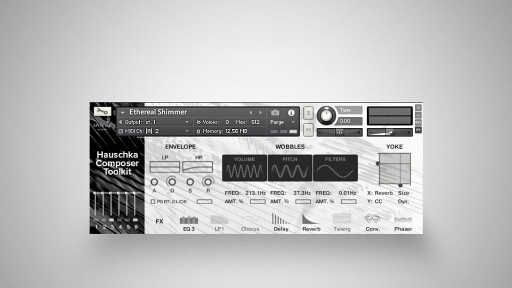 Die Warp-Sounds im Hauschka Composer Toolkit bieten Zugriff auf Klangbearbeitung und Effekte.