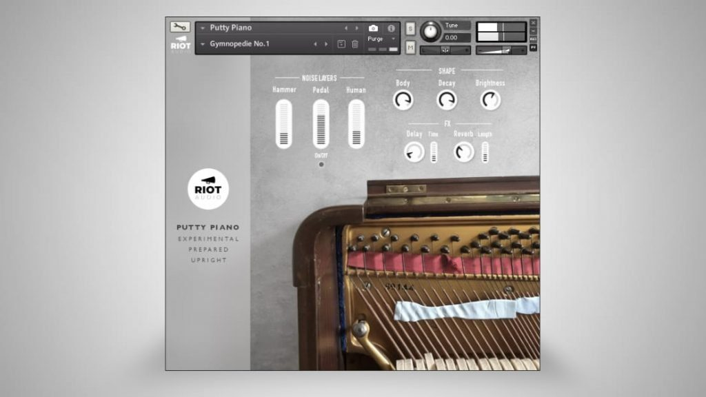 Riot Audio Putty Piano - User-Interface