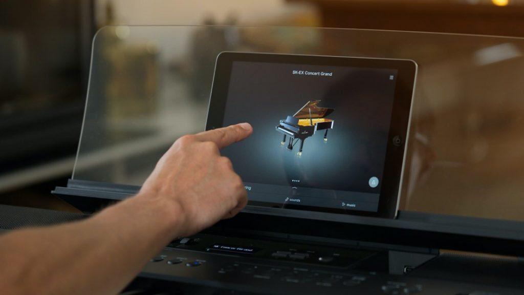 """Die neuen Modelle der Kawai ES-Serie lassen sich auch über die """"Piano Remote""""-App (Android/iOS) steuern. (Bildquelle: Kawai)"""